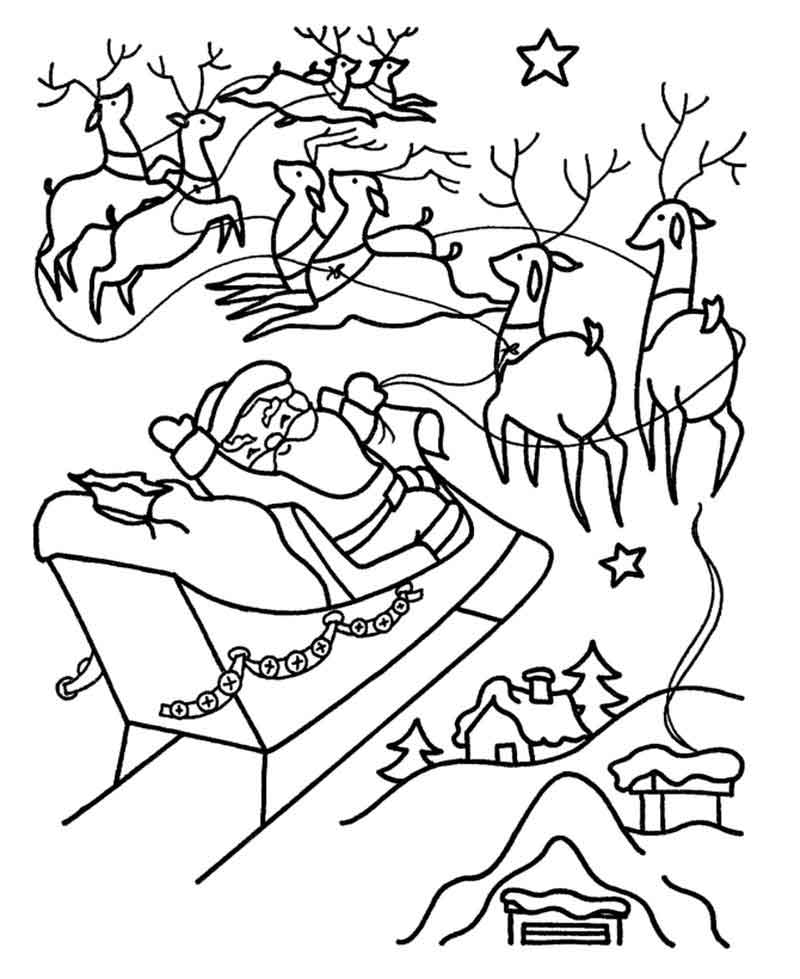 santa in a sleigh coloring page santa claus printable coloring pages for christmas sleigh santa in page coloring a