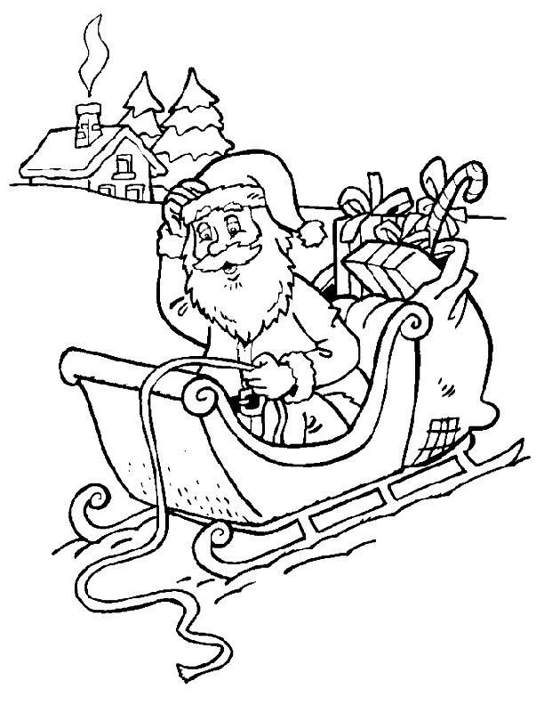 santa in a sleigh coloring page santa in sleigh coloring pages download and print for free sleigh santa in page coloring a
