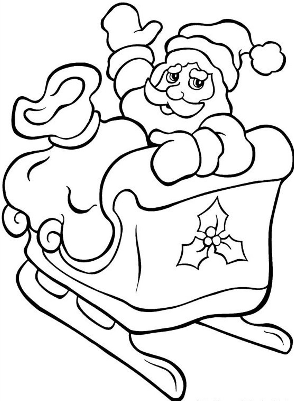 santa in a sleigh coloring page santas sleigh drawing at getdrawings free download coloring page in sleigh santa a