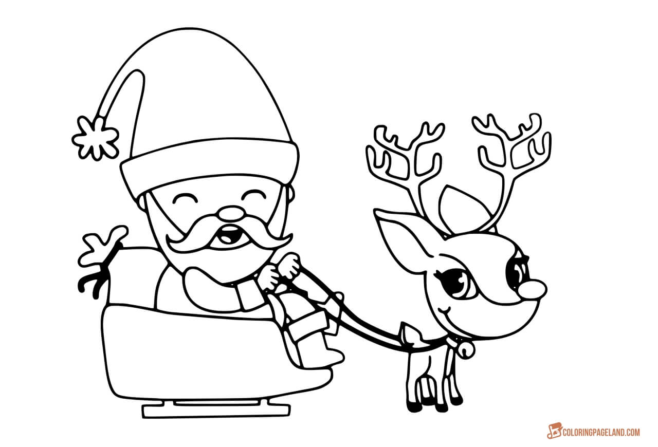 santa in a sleigh coloring page santas sleigh drawing at getdrawings free download in santa a page sleigh coloring