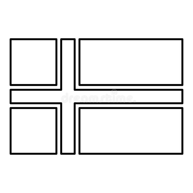 scandinavian flags coloring flag of norway icon black color vector illustration flat coloring scandinavian flags