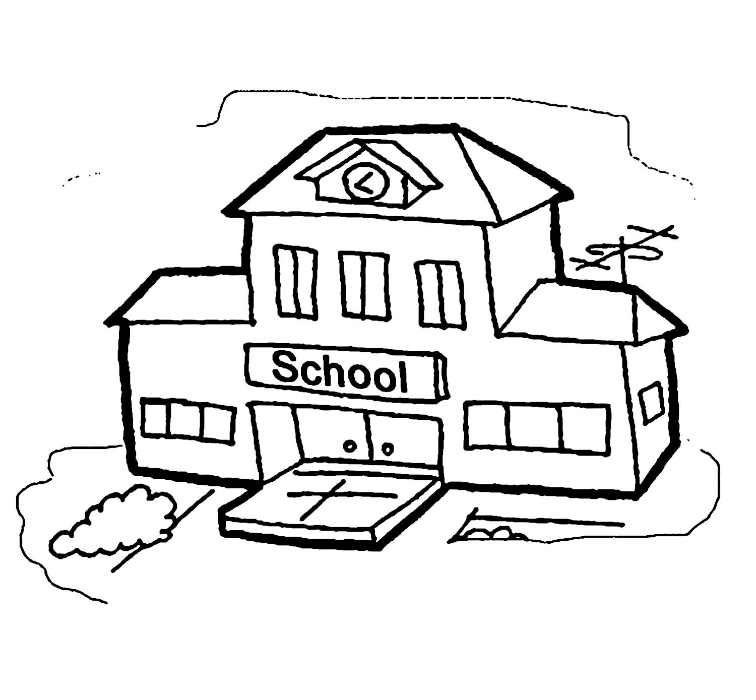 school clipart coloring coloring page of a school building coloring home coloring clipart school