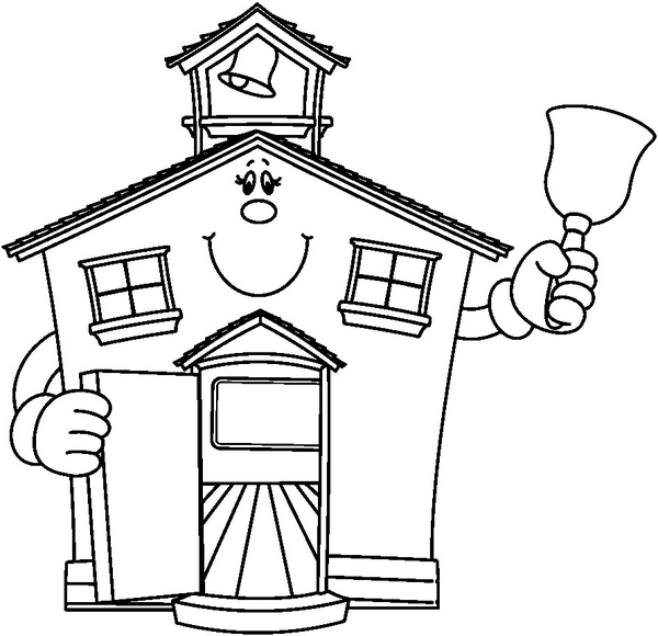 school clipart coloring printable first day of school coloring page clipart school coloring