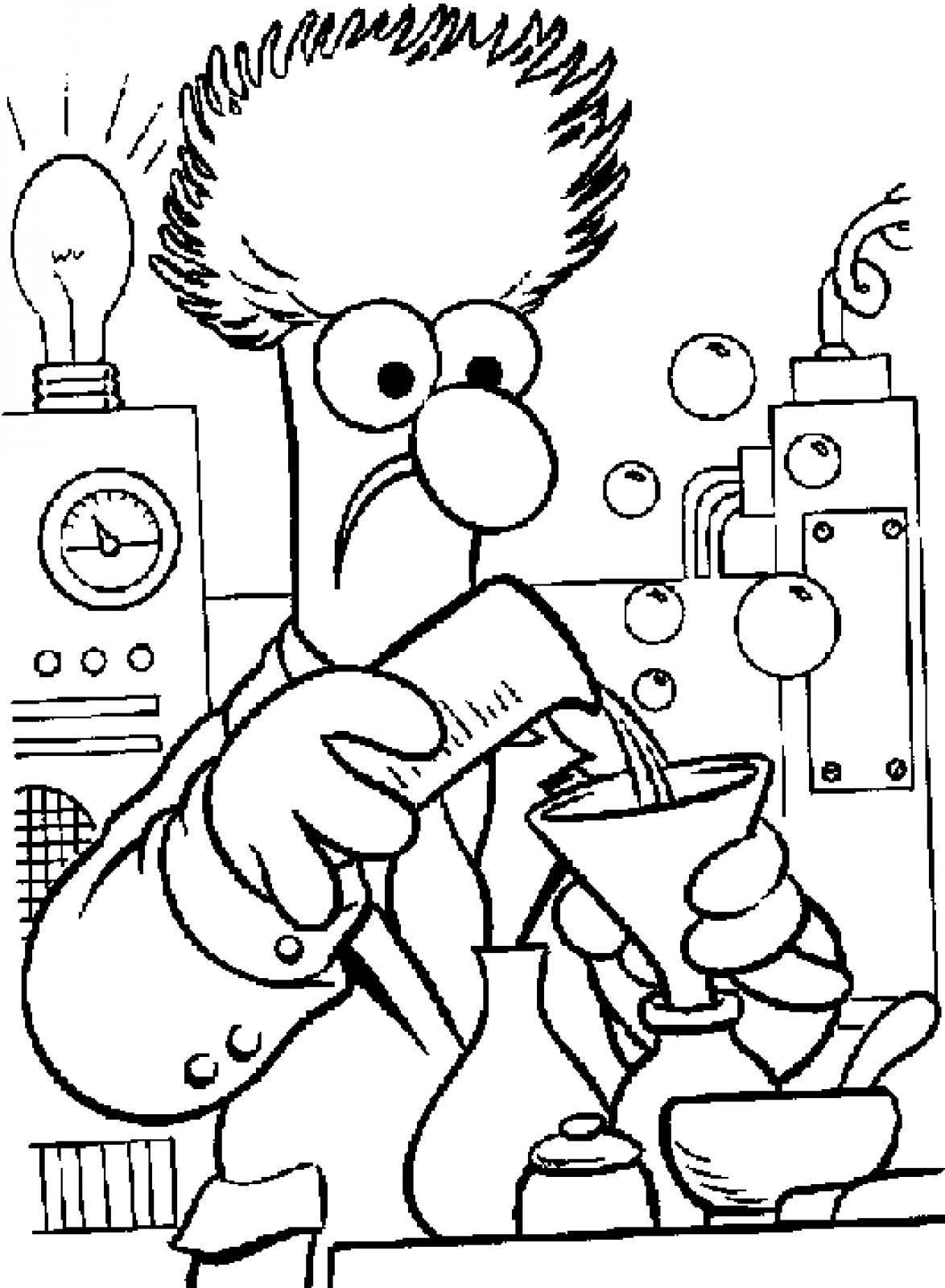 science coloring sheet science lab equipment coloring pages at getdrawings free science coloring sheet