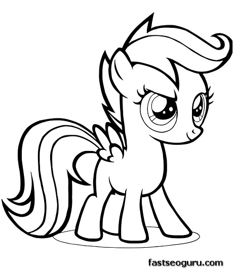scootaloo coloring page scootaloo coloring pages at getcoloringscom free page coloring scootaloo