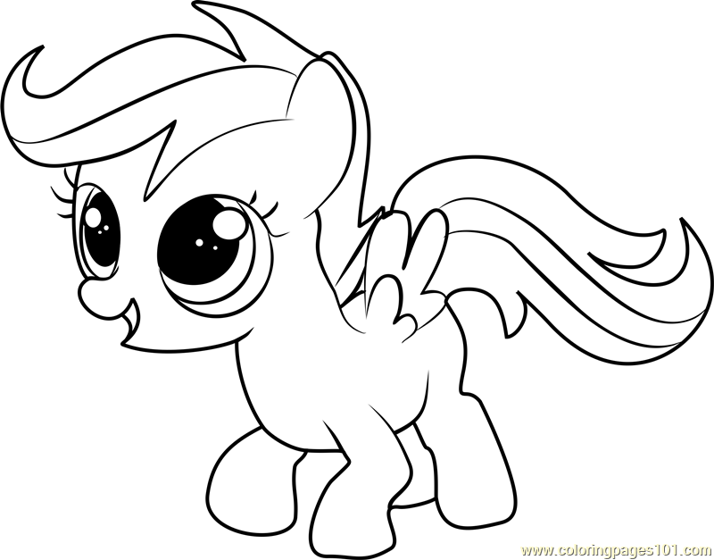 scootaloo coloring page scootaloo flying colouring page by amandagoldheart on coloring scootaloo page
