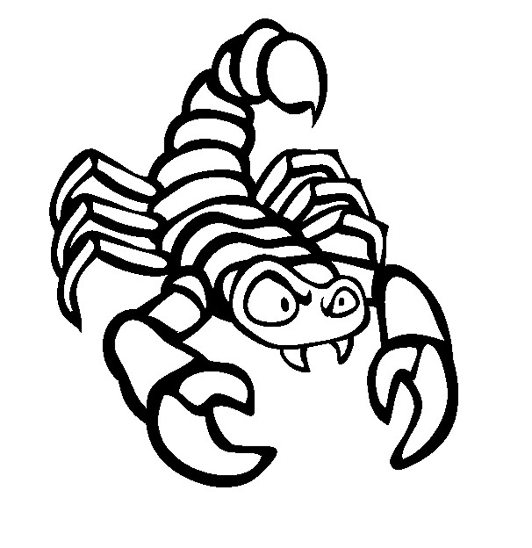 scorpion coloring free printable scorpion coloring pages for kids coloring scorpion 1 1