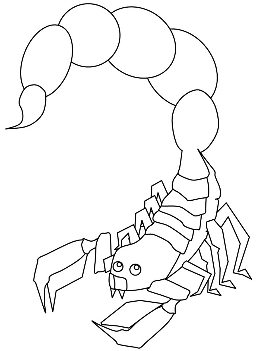 scorpion coloring free printable scorpion coloring pages for kids coloring scorpion 1 3