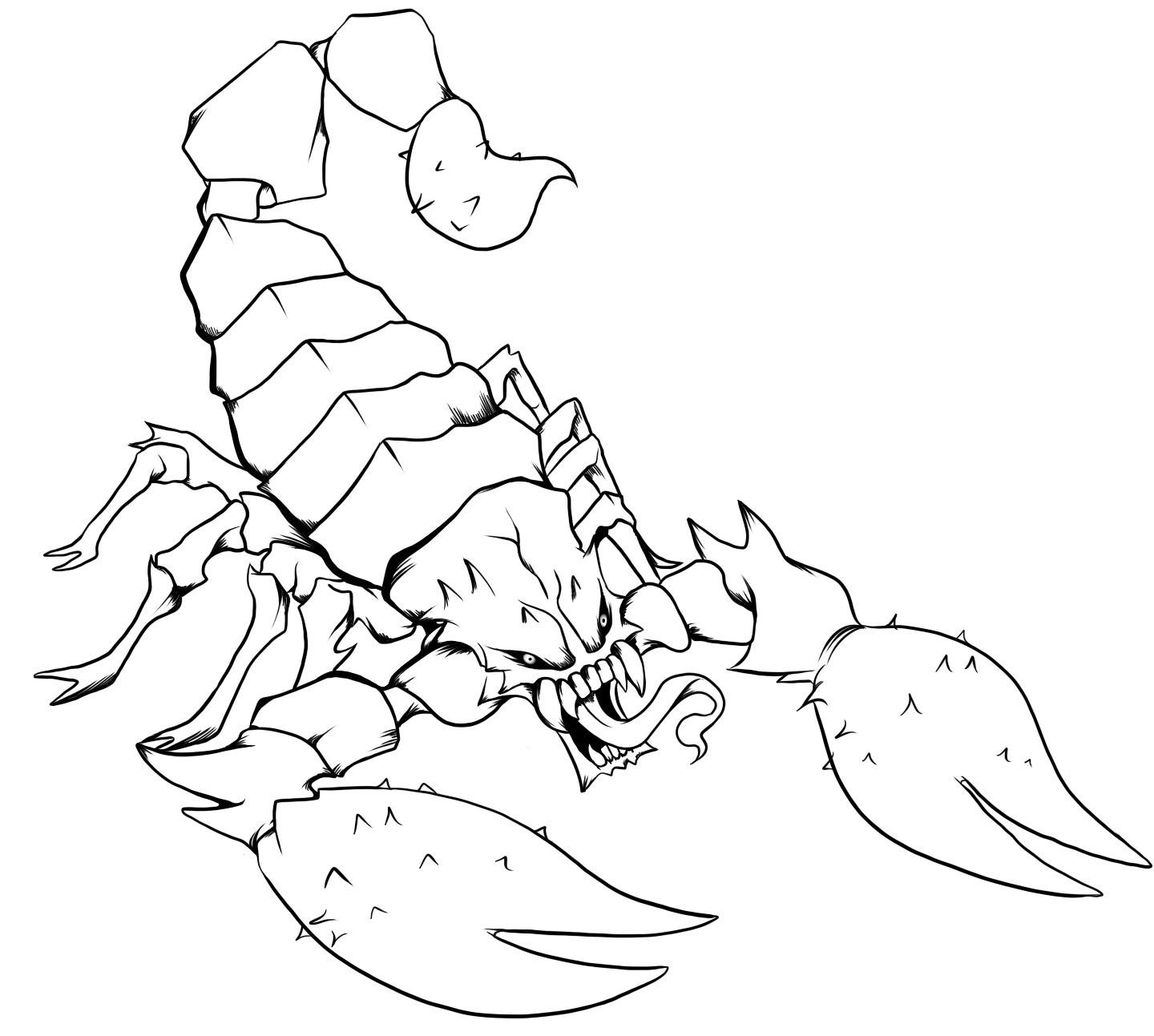 scorpion coloring free printable scorpion coloring pages for kids scorpion coloring