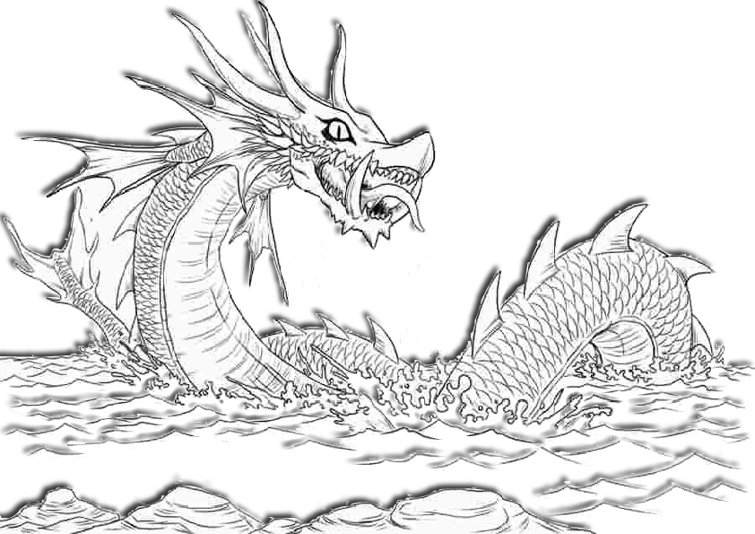 sea dragon coloring pages dragon coloring page sea dragon with a sword in its mouth coloring sea pages dragon