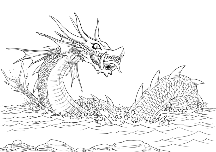 sea dragon coloring pages sea dragon coloring page adult coloring kids colouring coloring dragon sea pages