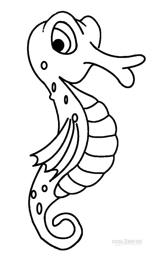 sea horse coloring page seahorse to color clipart best page coloring horse sea