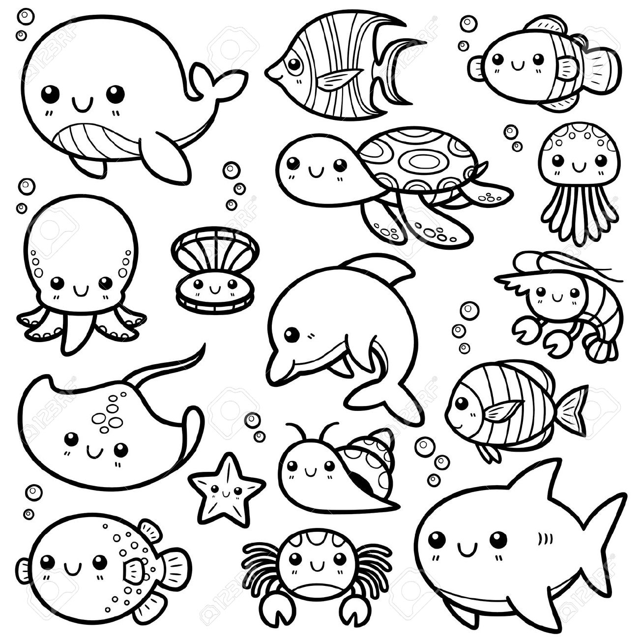sea life animals coloring pages best ocean animals coloring pages for kids best coloring animals sea coloring life pages