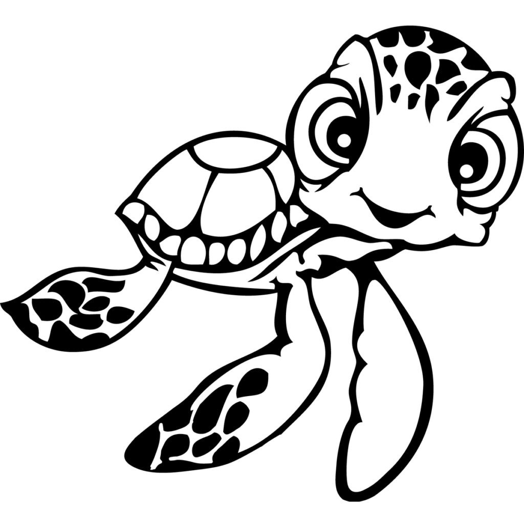 sea turtle for coloring coloring page cute cartoon hatchling of sea turtle stock turtle sea for coloring
