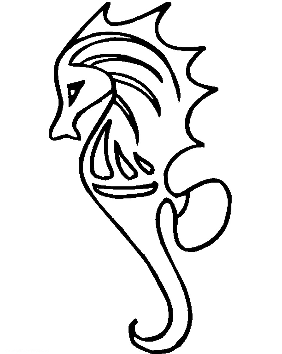 seahorse color sheet free printable seahorse coloring pages for kids sheet color seahorse