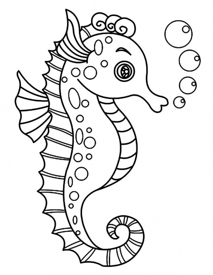 seahorse coloring page seahorse coloring pages download and print seahorse seahorse coloring page