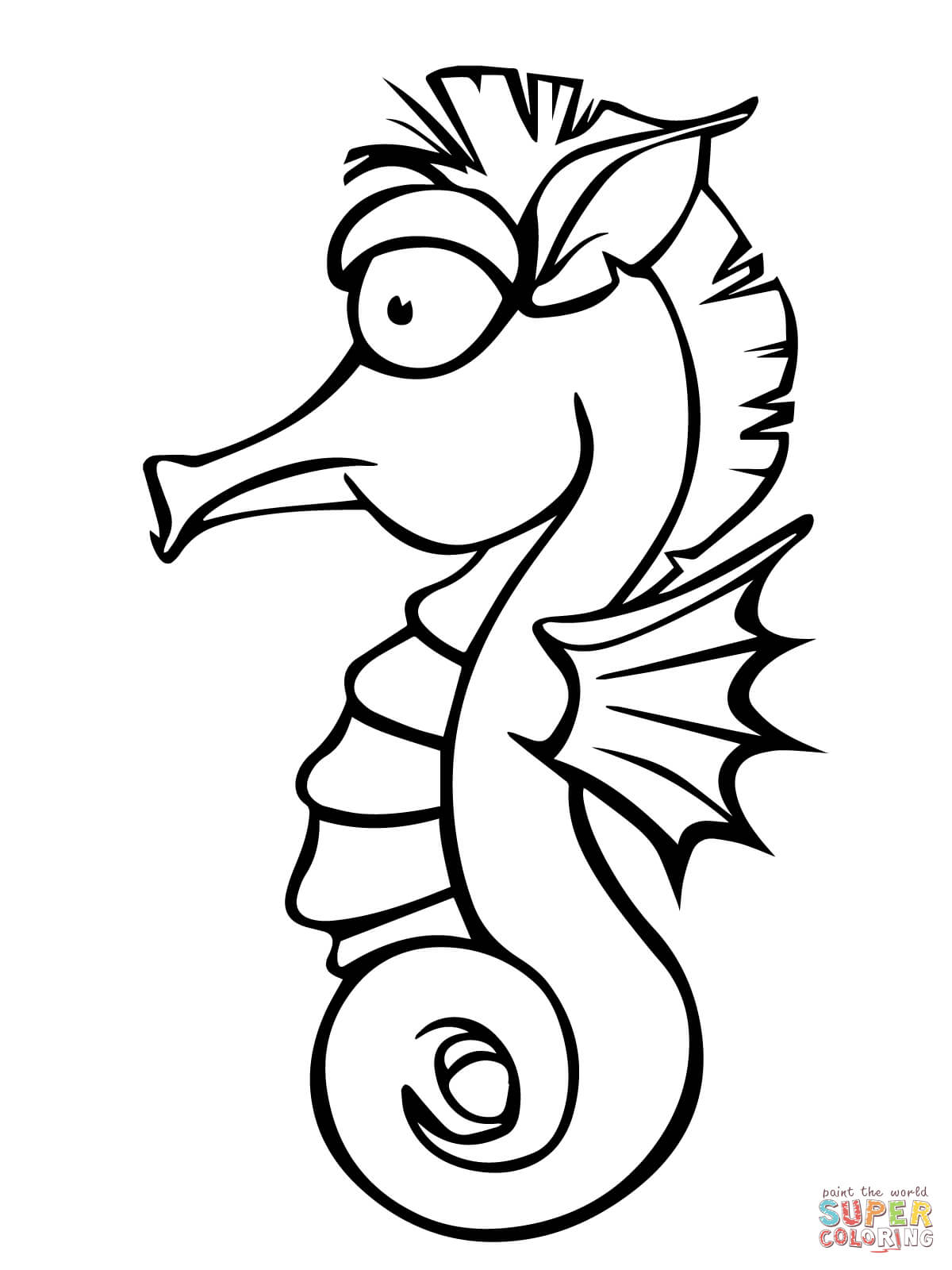 seahorse images for coloring free printable seahorse coloring pages for kids seahorse images coloring for