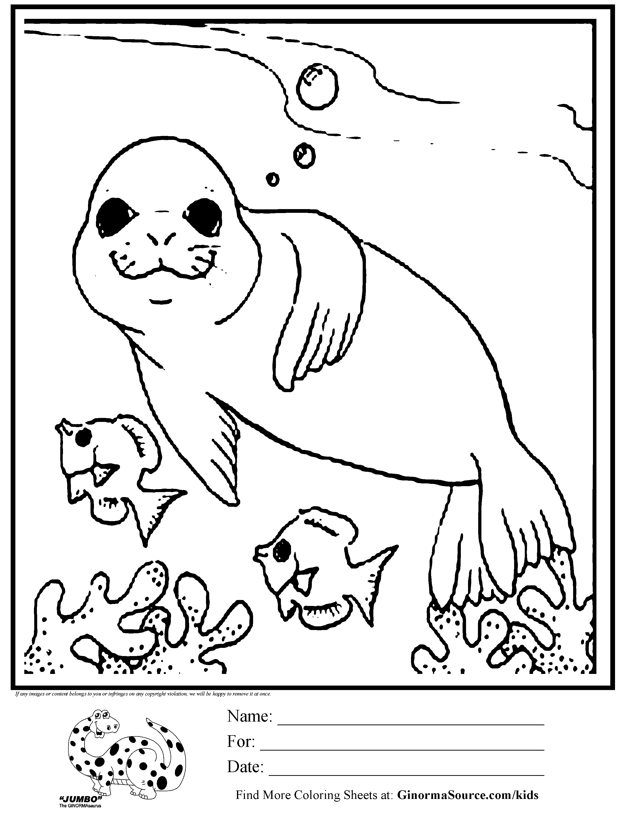 seal coloring page baby seal coloring pages coloring home seal coloring page
