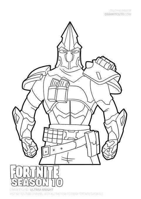 season 6 fortnite coloring pages colorig page ultima knight fortnite coloring 6 season fortnite pages