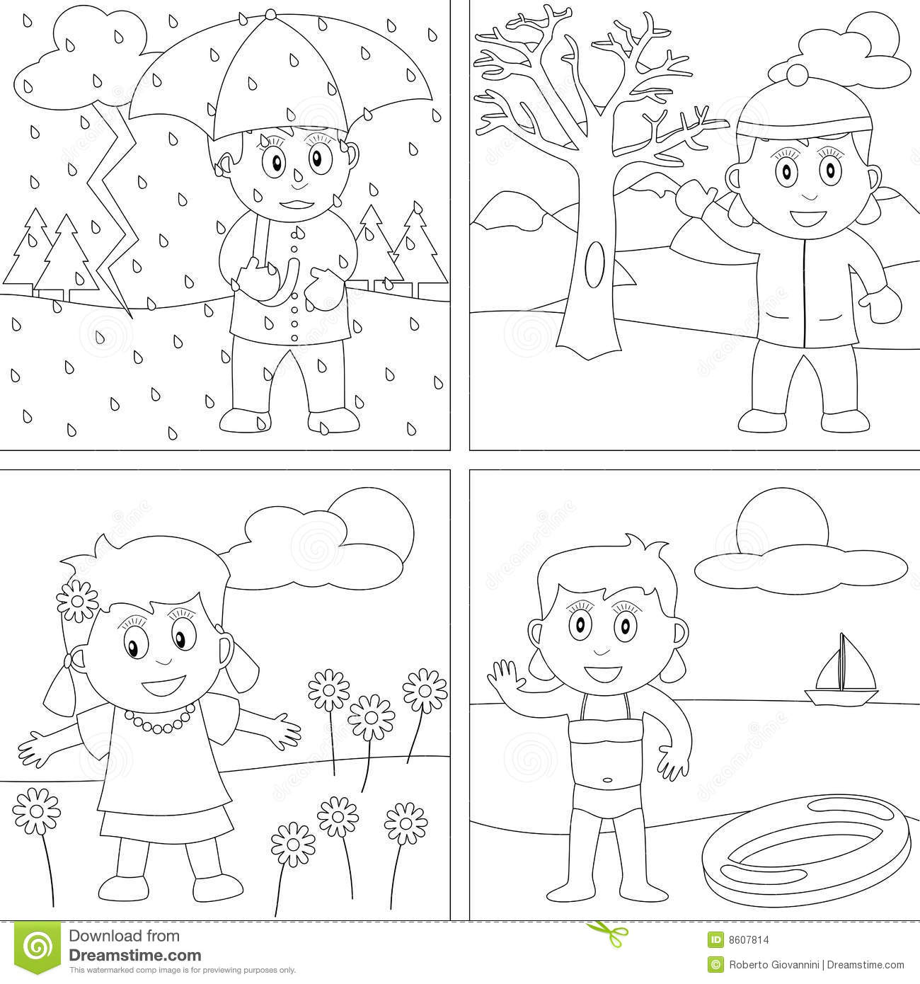seasons coloring pages 4 seasons free to color for children 4 seasons kids seasons pages coloring