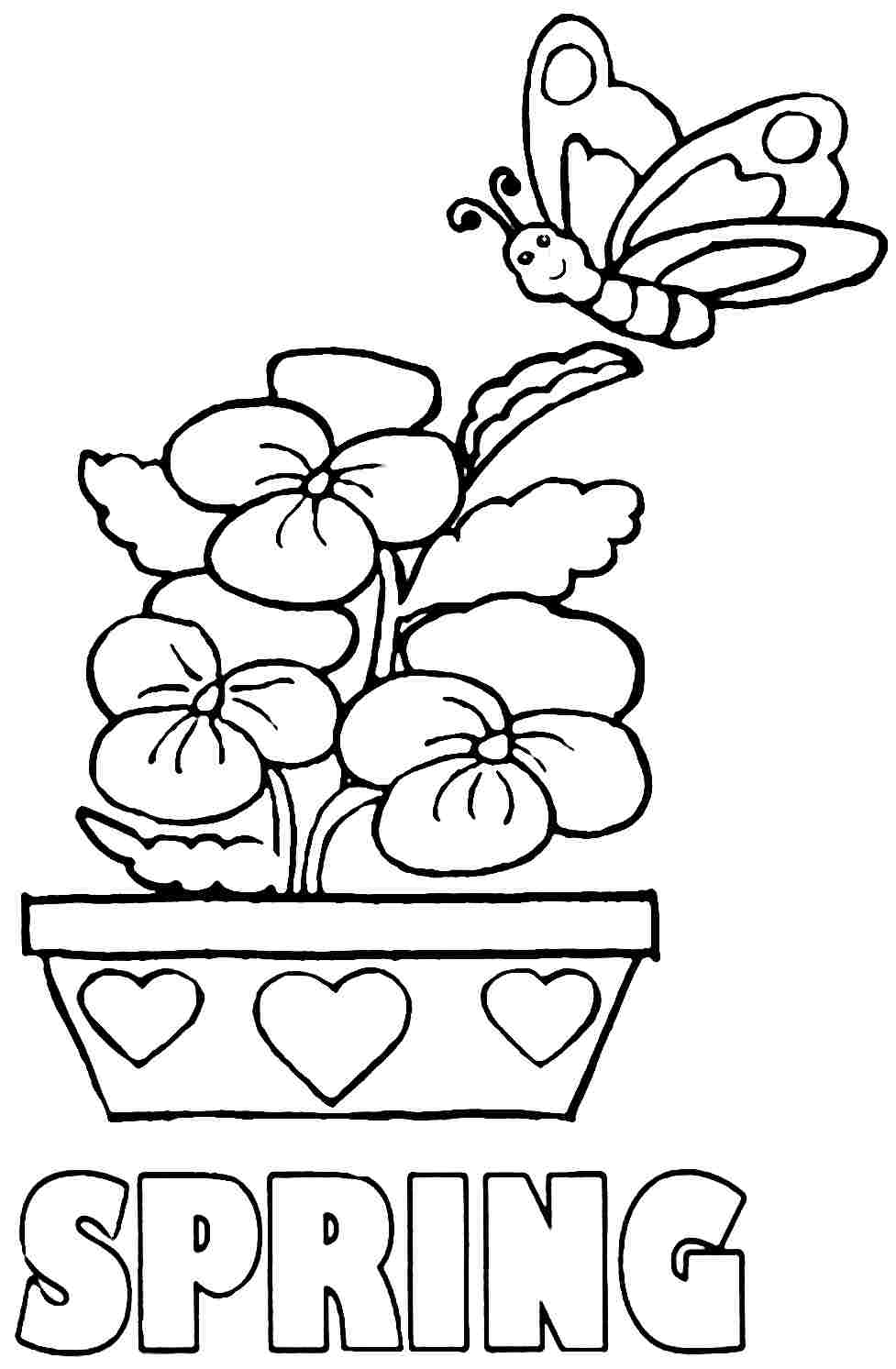 seasons coloring pages free coloring pages spring season coloring home pages seasons coloring