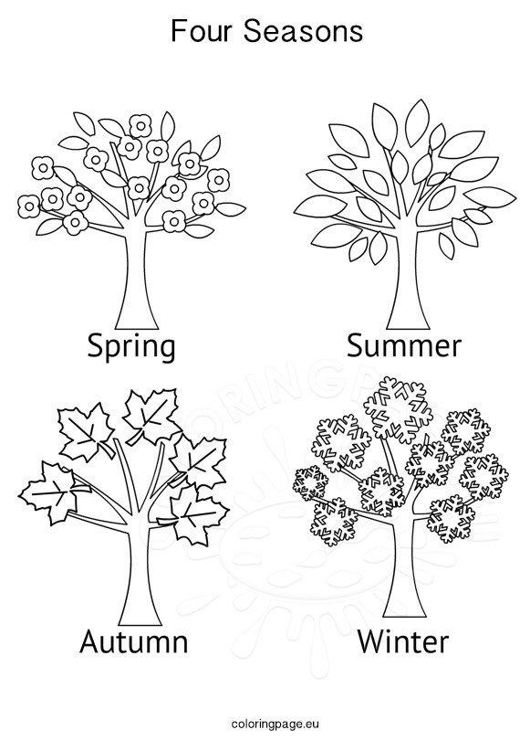 seasons coloring pages seasons activities four seasons tree coloring page pages coloring seasons