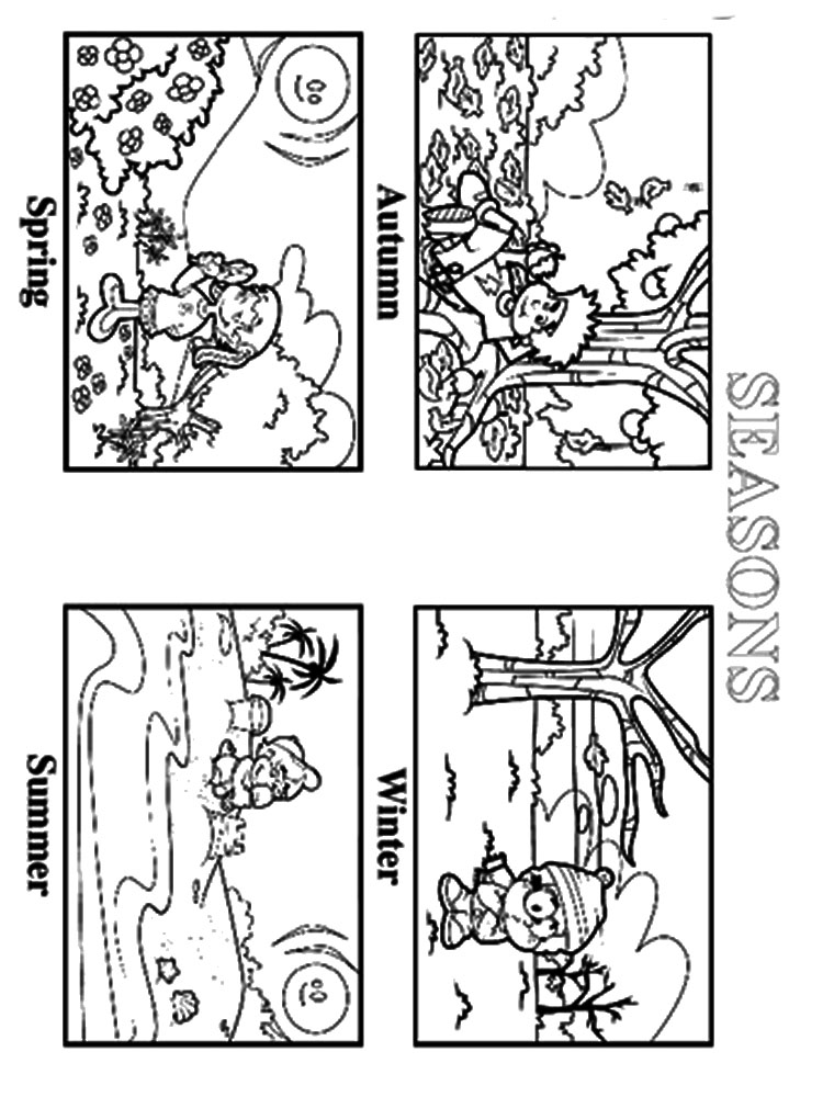 seasons coloring pages seasons coloring pages download and print seasons seasons coloring pages