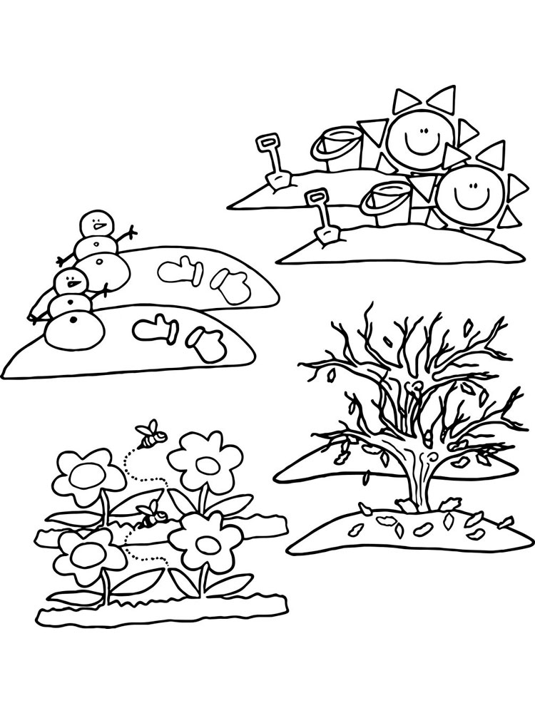 seasons coloring pages seasons coloring pages download and print seasons seasons coloring pages 1 1