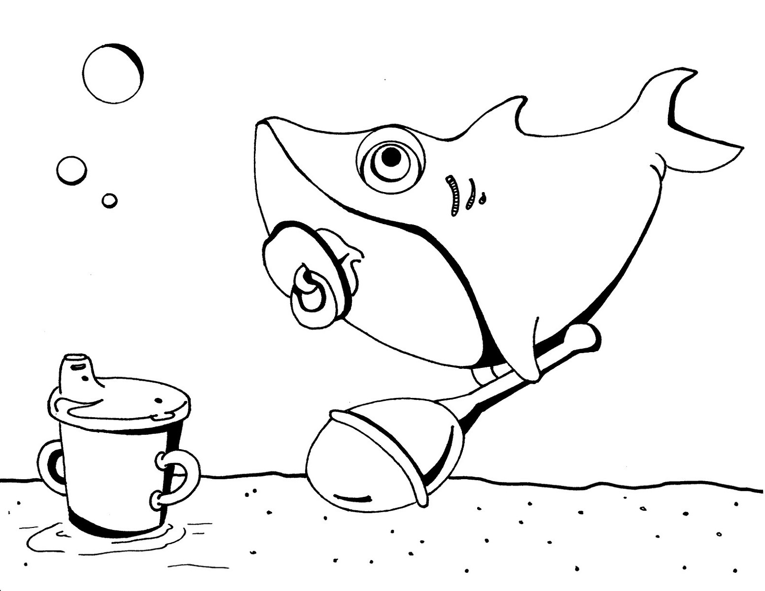 shark colour in a drawing of blacktip reef shark coloring page kids colour in shark