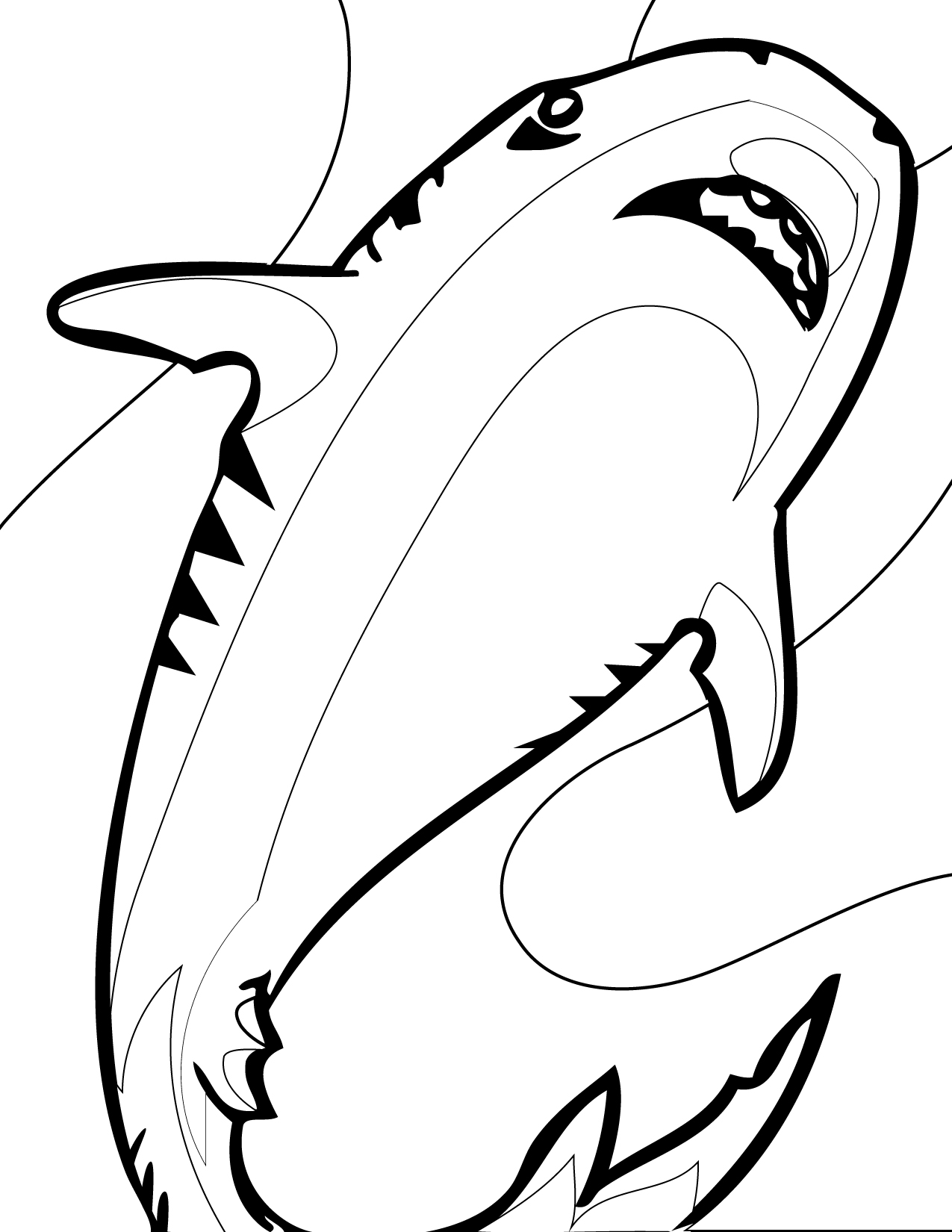shark colour in coloring pages shark coloring pages free and printable shark in colour