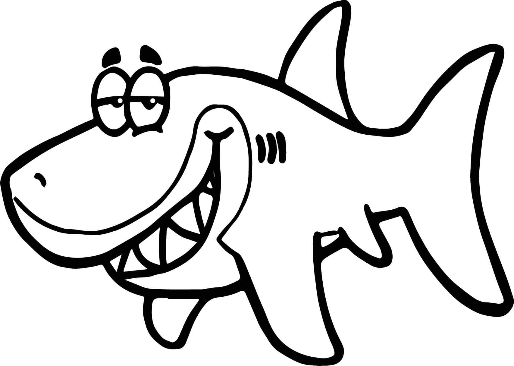 shark colour in free printable shark coloring pages for kids in colour shark