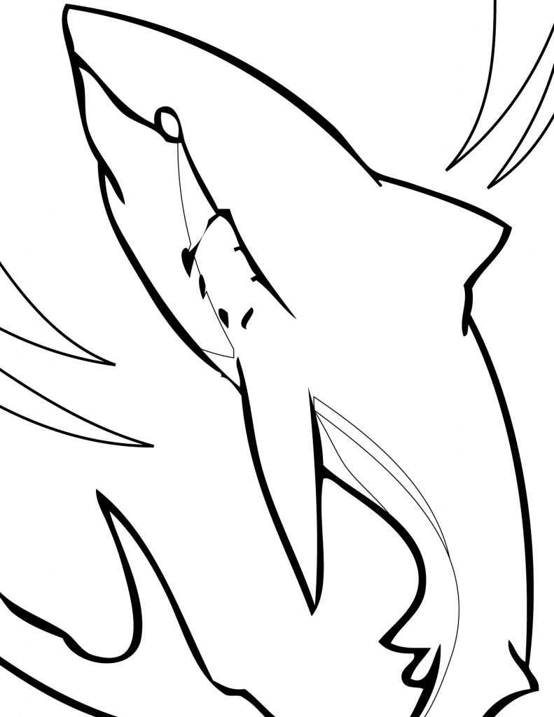 shark colour in this funny shark is getting laugh coloring page kids shark in colour