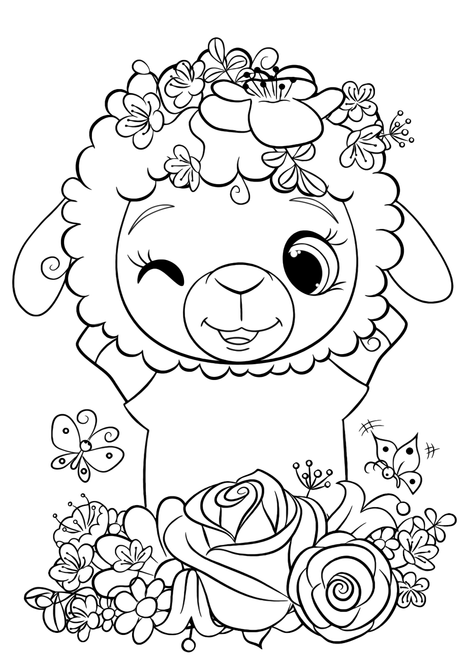 sheep for coloring library of christmas sheep picture stock png files clipart coloring for sheep