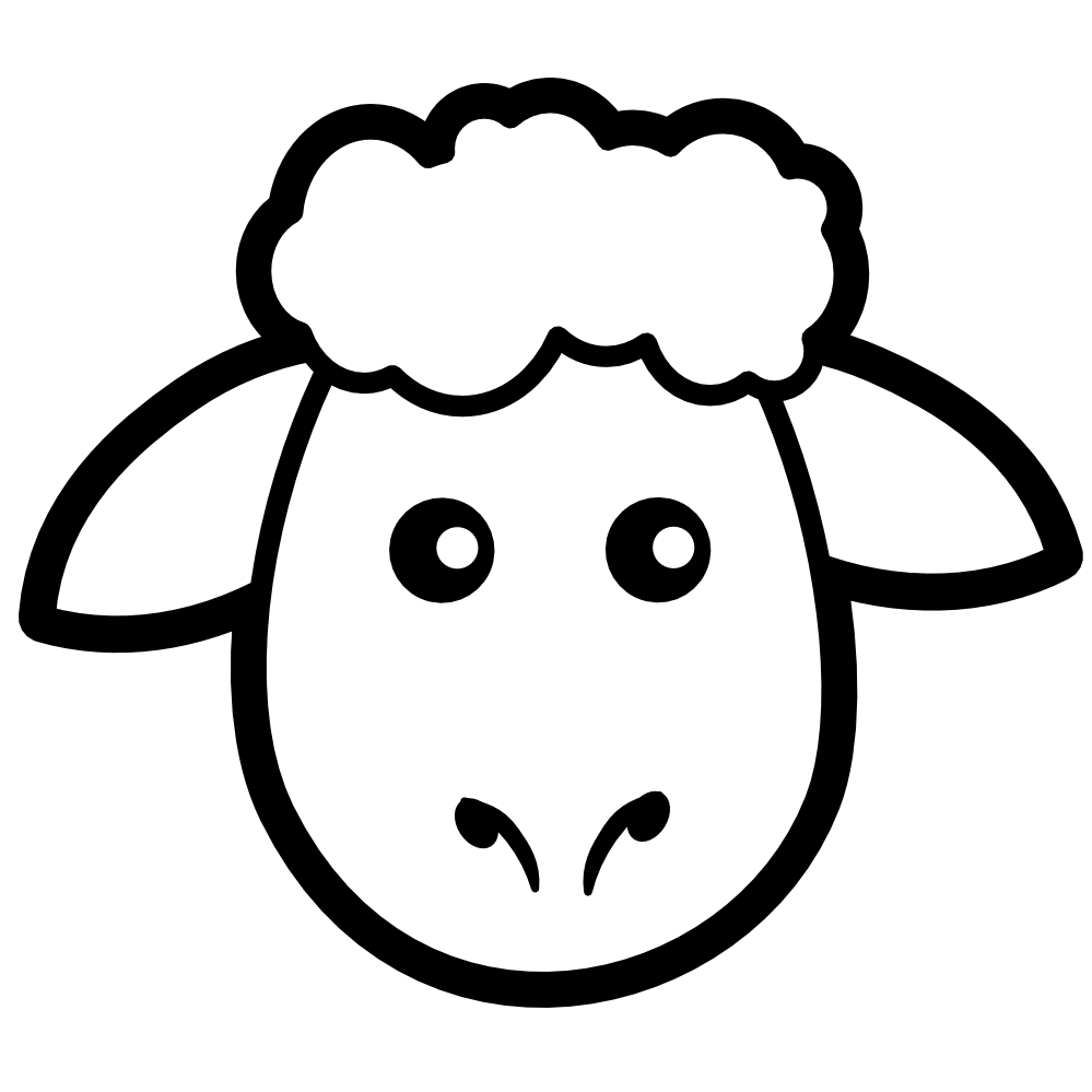 sheep head coloring page sheep head coloring page free printable coloring pages coloring sheep head page