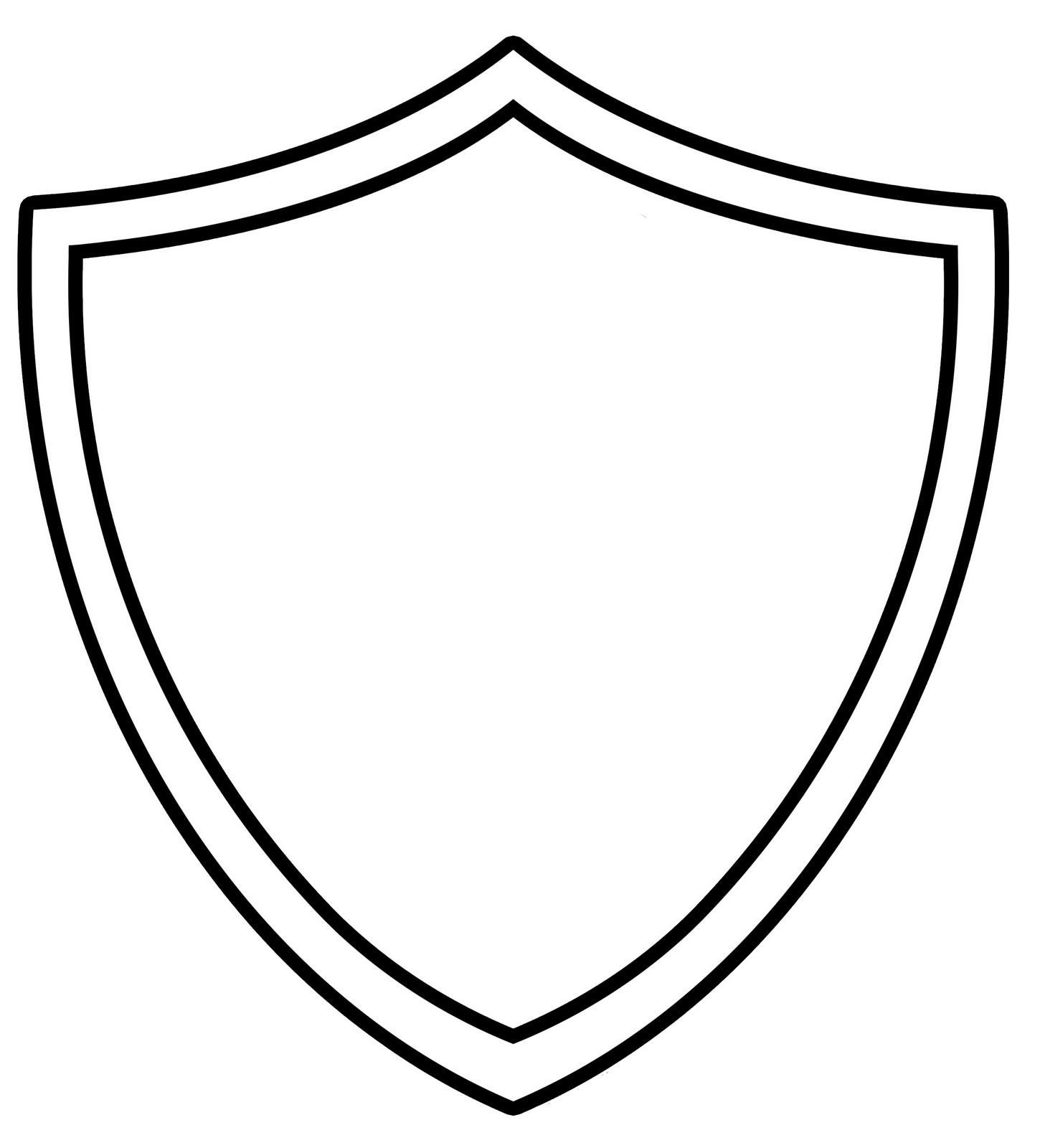 shield coloring page coloring sheet of a blank sheild clipart best shield page coloring