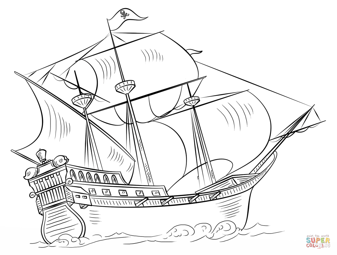 ship coloring pages pirate ship coloring page free printable coloring pages coloring ship pages
