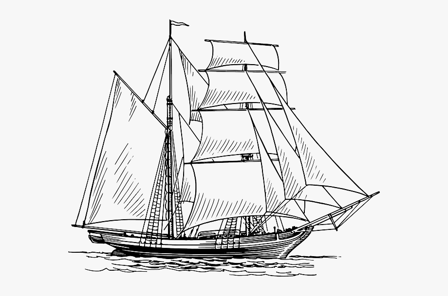 ship drawing pirate ship clipart black and white free download on ship drawing