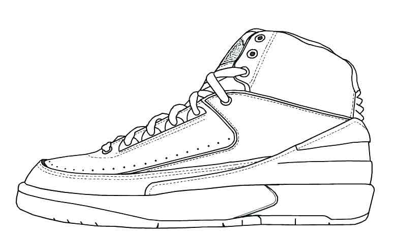 shoes coloring page coloring pages of jordan shoes coloring home shoes coloring page