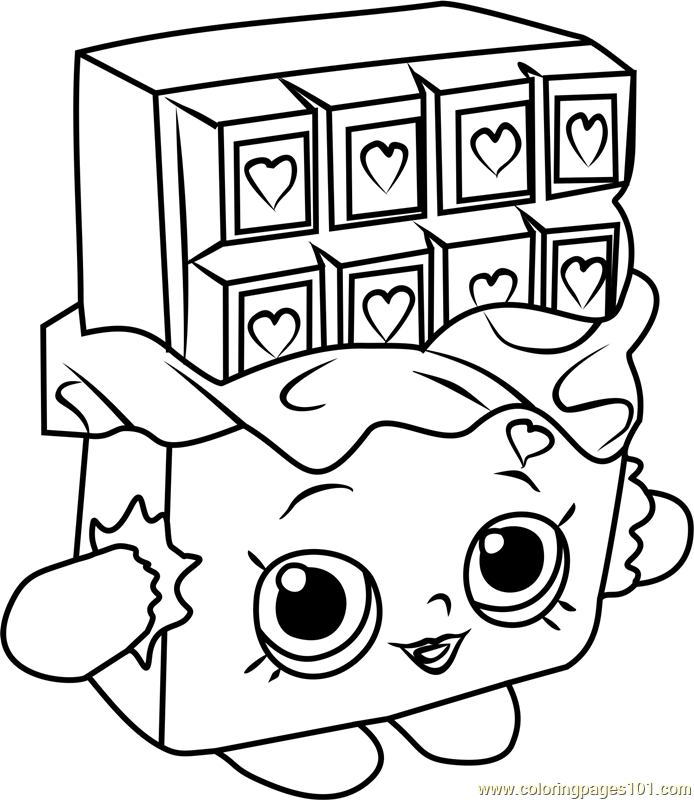 shopkins candy coloring pages chocolate bar coloring page at getcoloringscom free shopkins candy coloring pages