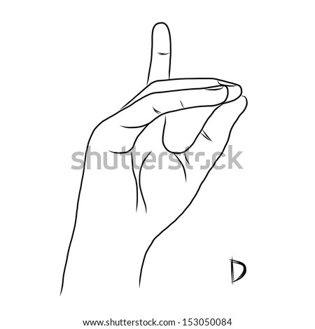 sign language for the letter d sign language alphabet the letter d stock vector royalty for language d sign the letter