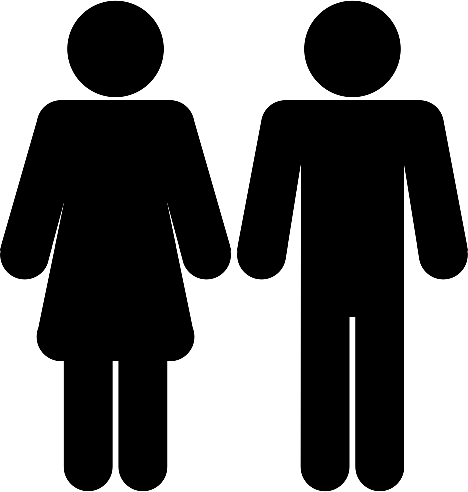 silhouette male and female fashionable male and female silhouettes stock illustration silhouette male female and