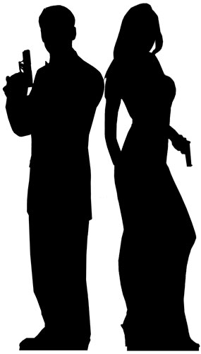 silhouette male and female male and female business people silhouette illustration female male and silhouette