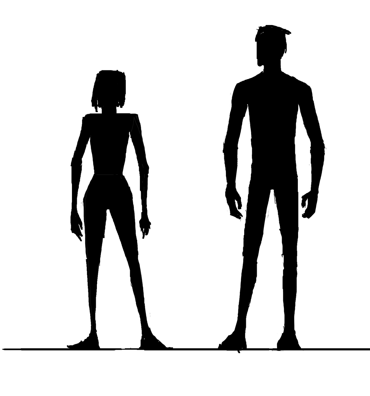 silhouette male and female man and woman silhouette clipart free download on clipartmag male female silhouette and