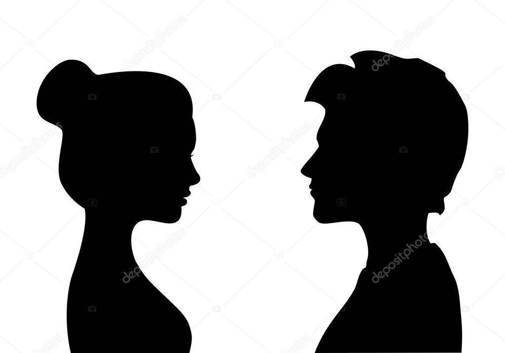 silhouette male and female man and woman silhouette free vector silhouettes female male and silhouette