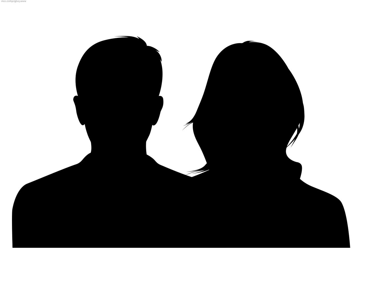 silhouette male and female silhouette men women clipart 20 free cliparts download silhouette male female and