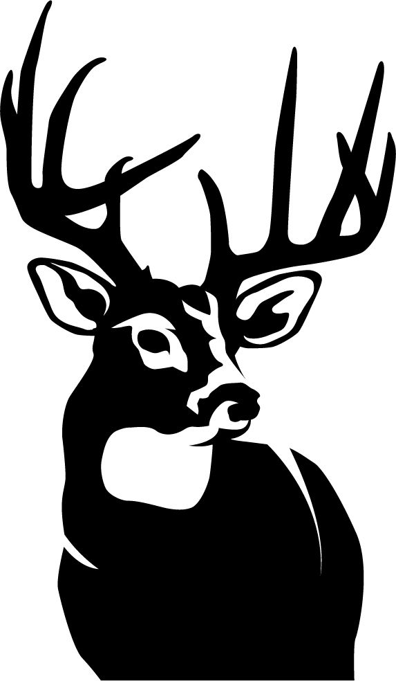 silhouette of a buck 45quotx4quot buck silhouette vinyl decal on storenvy a silhouette buck of