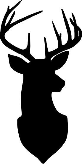 silhouette of a buck quotbuck trophy deer silhouette in black and whitequot poster by of a silhouette buck