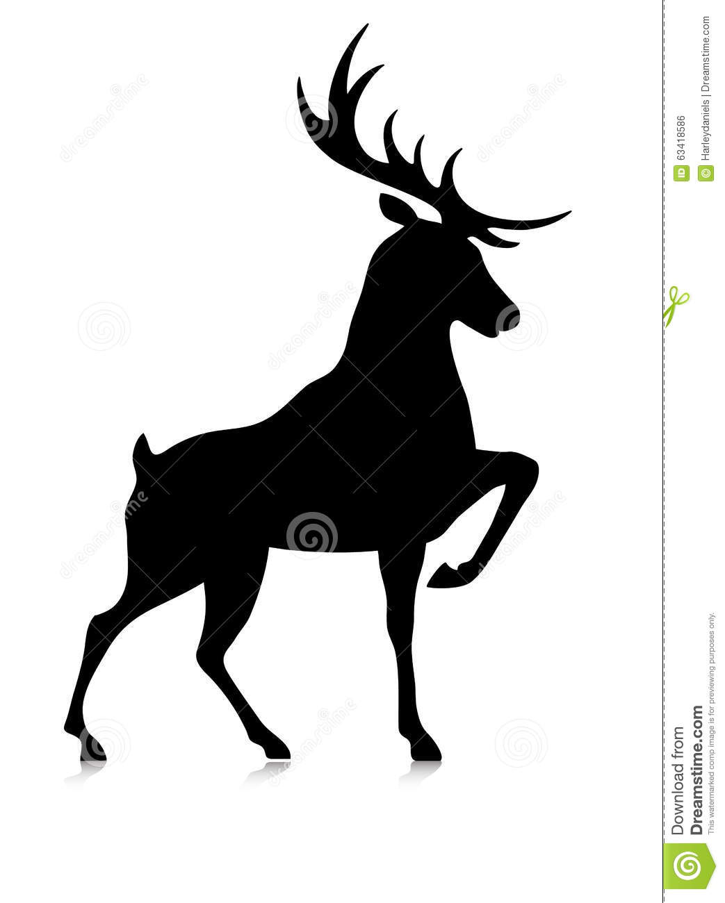 silhouette of a buck silhouette of the buck stock vector image 63418586 a of silhouette buck