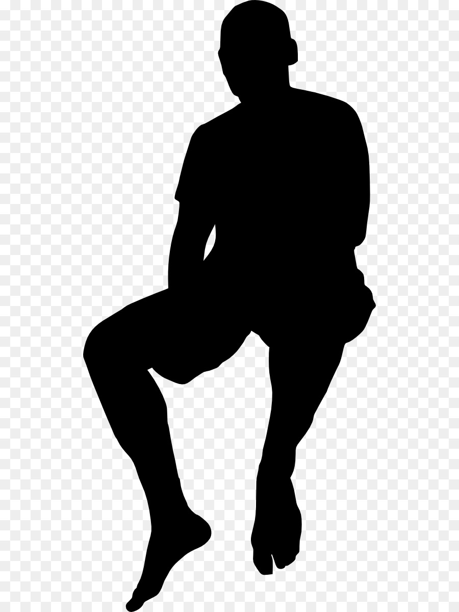 silhouette of person sitting person sitting in chair silhouette hd png download kindpng person sitting of silhouette