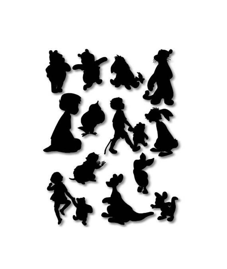 silhouette of winnie the pooh winnie the pooh piglet silhouette vector clipart images the pooh winnie of silhouette
